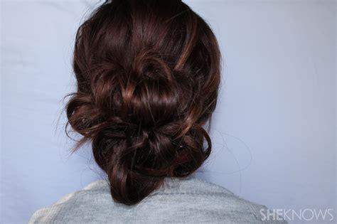 easy voluminous updo tutorial  thin hair