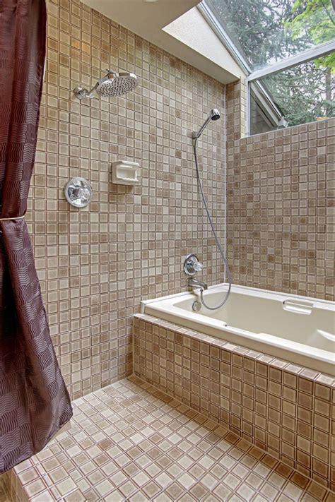 soaking tub shower combo tropical bathroom design with convertible surround bathtub