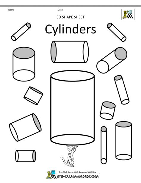printable  shapes worksheets  kindergarten