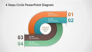 4 Steps Circle Powerpoint Diagram