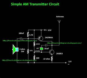 Free Circuit Diagrams 4u  Simple Am Transmitter Circuit Diagram