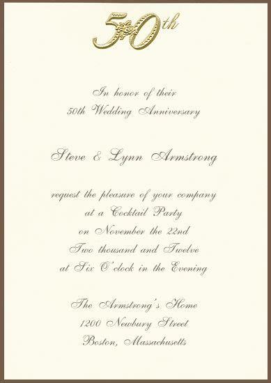 printable  golden anniversary invitation party ideas