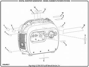 Homelite Uti2100r Digital Inverter Generator Parts Diagram