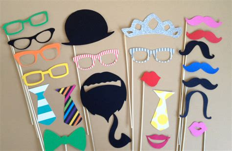 props ideas mind boggling wedding photo booth prop ideas cardinal bridal