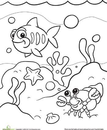 sea coloring page worksheets vbs   ocean
