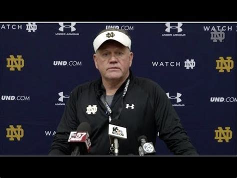 @ndfootball Brian Kelly Press Conference (030618) Youtube