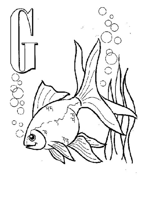 printable goldfish coloring pages  kids