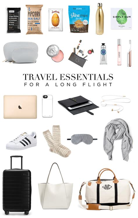 travel essentials for a flight