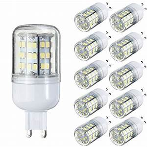 G9 Led Test : kingso 10 pack g9 4 5w led halogen bulb replacement pure white 6000 6500k 520lm not dimmable 60 ~ Eleganceandgraceweddings.com Haus und Dekorationen