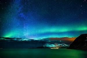 Alaska aurora aurora borealis northern lights Nature sky ...