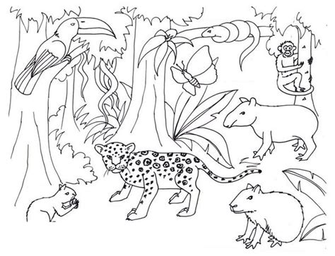 para colorear animales de la selv on dibujos de el libro