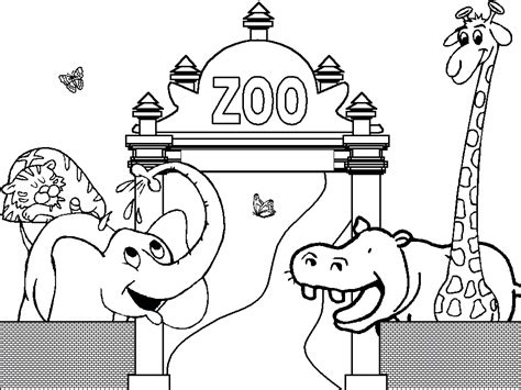 printable zoo coloring pages  kids