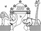 Zoo Coloring Printable Bestcoloringpagesforkids sketch template