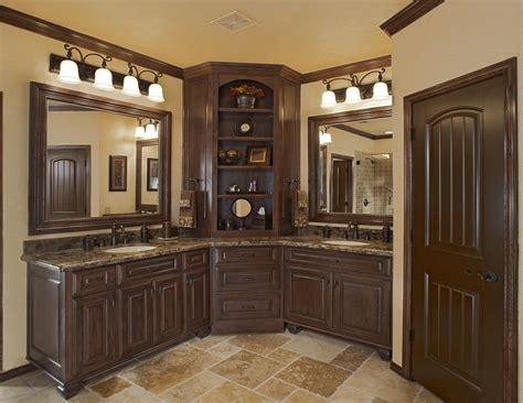 Corner Bathroom Vanity Bathroom Mediterranean With