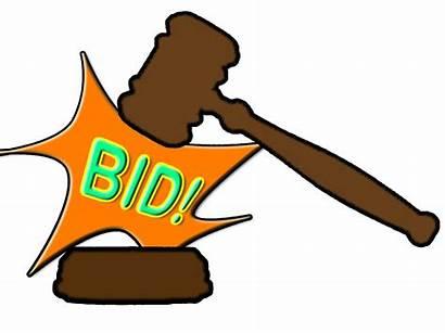 Auction Silent Clipart Hammer Bid April Certain
