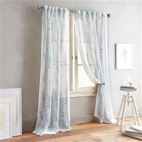 buy blue sheer curtains from bed bath beyond