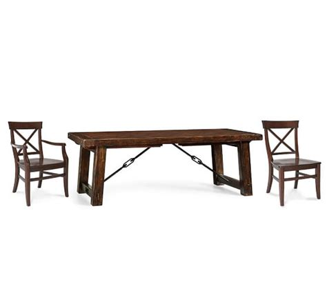 benchwright extending table aaron chair dining set