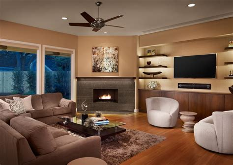 furniture placement around corner fireplace living room contemporary with