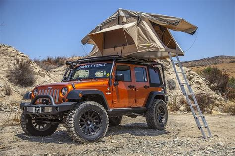 jeep tent 2 door 楽天市場 国内即納在庫スミッティビルト smittybilt ルーフテント ジープ ラングラー jk tj