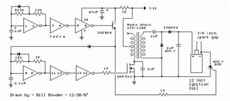 capacitor discharge ignition circuit cdi circuit diagram