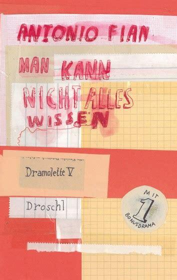 Man Kann Nicht Alles Wissen  Literaturverlag Droschl