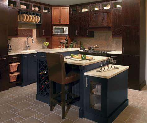 tilt out tray kitchen craft cabinetry 566 oak kitchen cabinets with blue accents