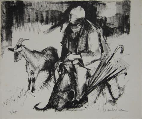 quot le berger et son chien quot lithographie sign 233 e pierre