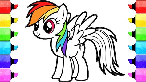 pony coloring book pages   draw  color