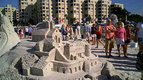 SANDCASTLE COMPETITION on Fort Myers Beach in Florida ...