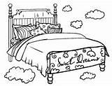 Coloring Bed Colouring Clipart Bedtime Printable Coloringcafe Pdf Sheet Bedroom Beds Sheets Furniture Clip Template Printables Super Adult Transparent Sketch sketch template