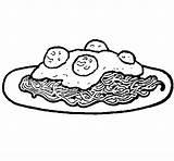 Spaghetti Coloring Meat Coloringcrew sketch template