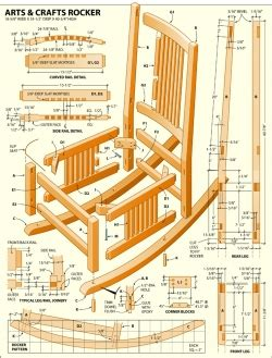 wood kids rocking chair plans blueprints  diy