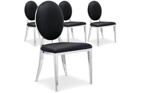 lot de 4 chaises sofia noir chaise design pas cher