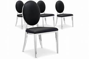 Chaise Baroque Noir : lot de 4 chaises sofia baroque noir chaise design pas cher ~ Teatrodelosmanantiales.com Idées de Décoration