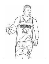 Coloring Griffin Nba Blake sketch template