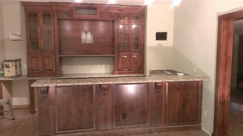 Basement Bar   Alder wood with a chestnut stain   Kitchen