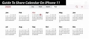 Guide To Share Calendar On Iphone 11