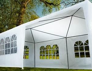 Zelt partyzelte pavillon 6x3 qm und 9x3 qm mit fehlern for Garten planen mit zelt für balkon