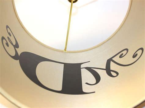 create  monogram lamp diy