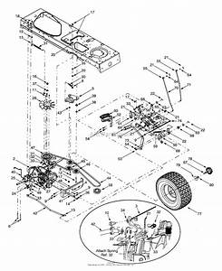 Mtd 13ai618h205  2001  Parts Diagram For Drive  Wheels