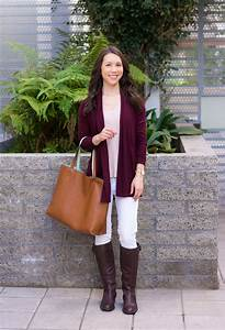 Light Brown Riding Boots 3 Ways To Style A Burgundy Cardigan Style Script