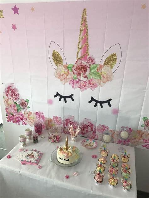 kit decoration licorne pour anniversaire  bapteme theme