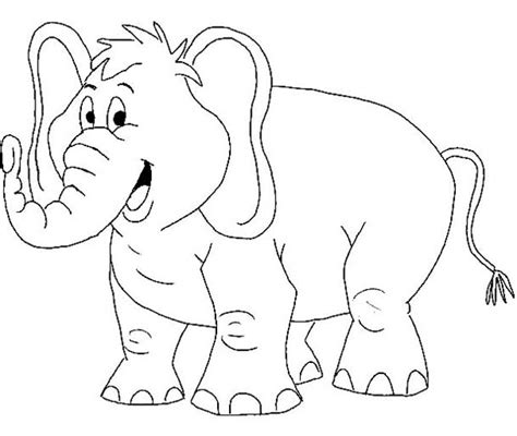cartoon  african elephant coloring page netart