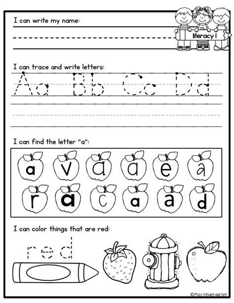 work pages for kindergarten 13 best images of morning work worksheets morning work