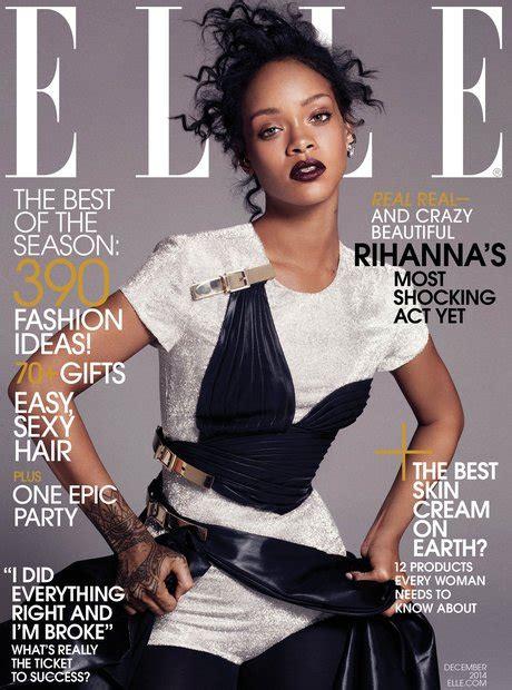 Rihanna Covers Us Elle Magazine's December Issue Capital
