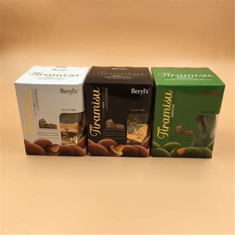 jual coklat beryls tiramisu almond green tea gram