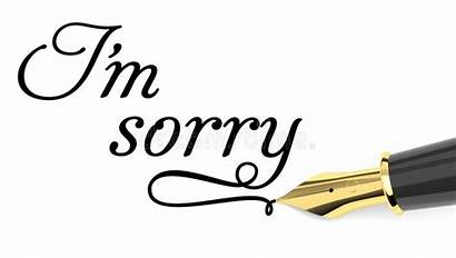 Sorry Card Spiacente Apology Written Droevige Kaart