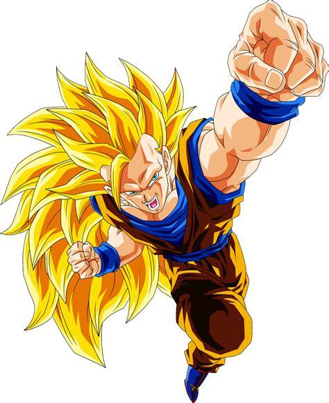 SSJ3 Goku. Dragon fist/fire.