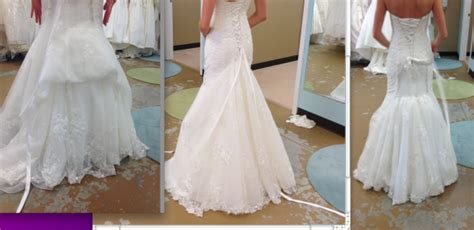 Bustle For Lace Fit And Flare With Pic