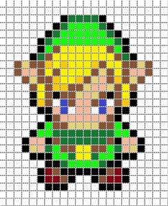 Link Pixel Art 2 Grid by Matbox99 on DeviantArt